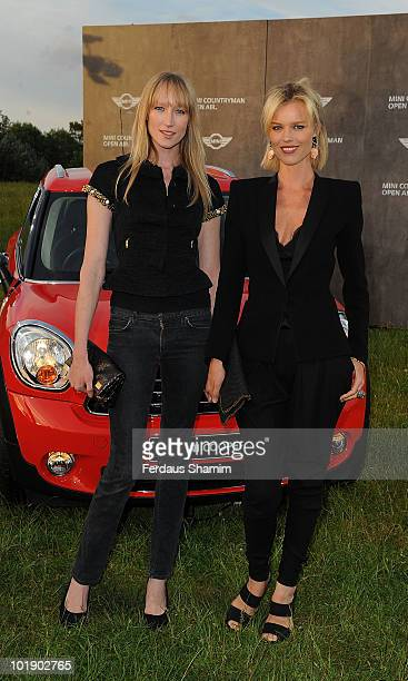 Jade Parfitt and Eva Herzigova attend a photocall to launch the MINI Countryman open air event on June 8 2010 in London England