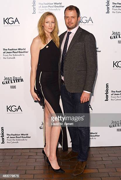 Jade Parfitt and Jack Dyson attend an exclusive reception for 'The Fashion World of Jean Paul Gaultier From the Sidewalk to the Catwalk' showing at...