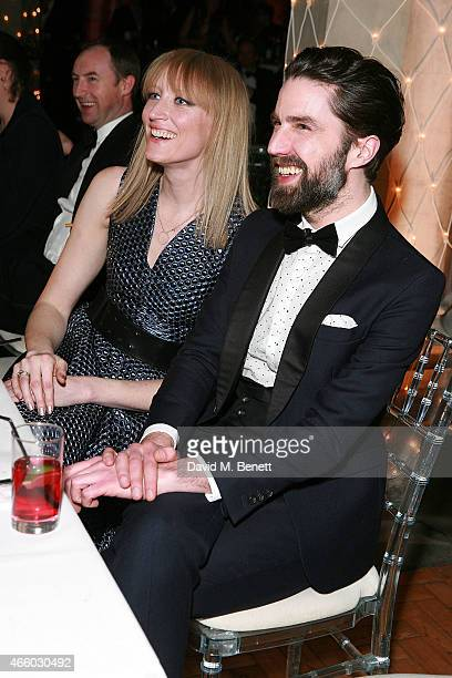 Jade Parfitt and Jack Guinness attend the 'Many Hopes' London Banquet and Fashion Show at St Dionis on March 12 2015 in London England