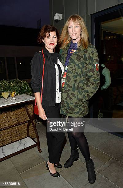 Jade Parfitt and Jasmine Guinness attend the Nine by Savannah Miller for Debenhams Launch Party at The Roof Terrace Ham Yard Hotel on September 8...