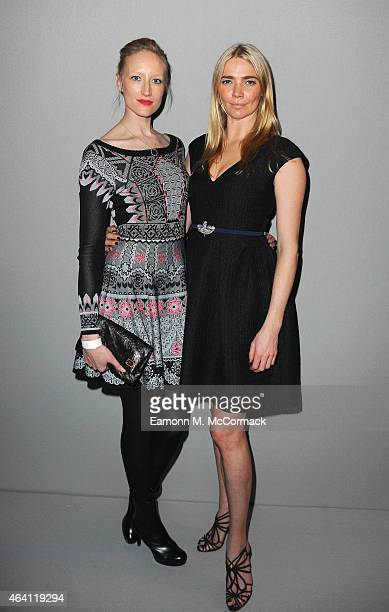 Jade Parfitt and Jodie Kidd attend the Temperley show during London Fashion Week Fall/Winter 2015/16 at RIBA on February 22 2015 in London England