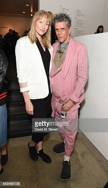 Jade Parfitt and Judy Blame attend a VIP private view of Judy Blame Never Again and Artistic Difference at the ICA on June 28 2016 in London England