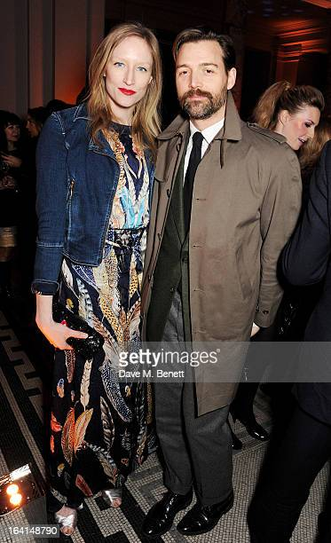 Jade Parfitt and Patrick Grant attend the private view for the 'David Bowie Is' exhibition in partnership with Gucci and Sennheiser at the Victoria...