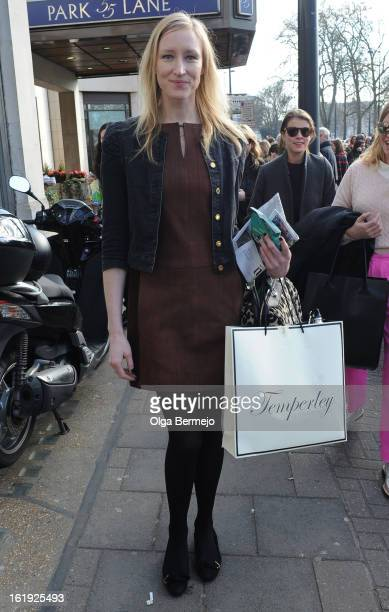 Jade Parfitt at London Fashion Week on February 17 2013 in London England