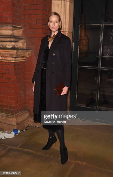 """Jade Parfitt attends a private view of The V&A's new exhibition """"Bags: Inside Out"""" sponsored by Mulberry at The V&A on December 9, 2020 in London,..."""
