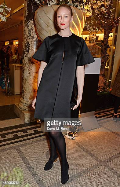 Jade Parfitt attends a VIP private view of 'The Glamour of Italian Fashion 19452014' at the Victoria Albert Museum on April 2 2014 in London England
