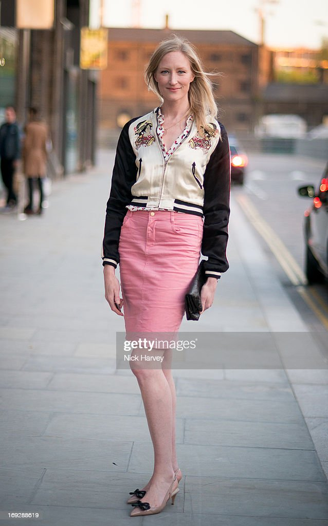 Jade Parfitt attends private event to celebrate J.Crew And Central Saint Martins partnership at J.Crew on May 22, 2013 in London, England.