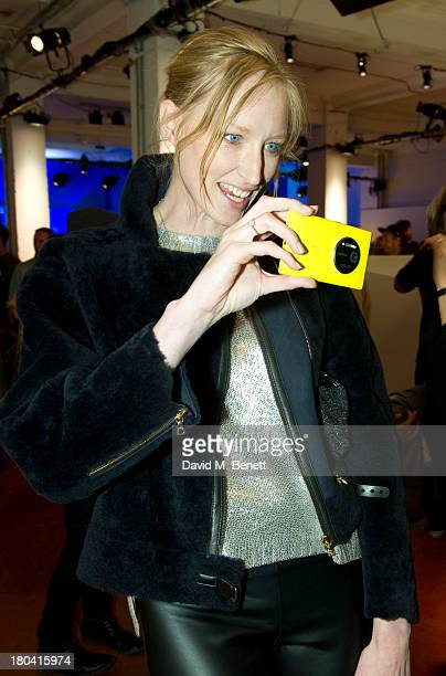 Jade Parfitt attends the Bruce Weber x David Bailey by Nokia Lumia 1020 exhibition at the Nicholls Clarke Building on September 12 2013 in London...