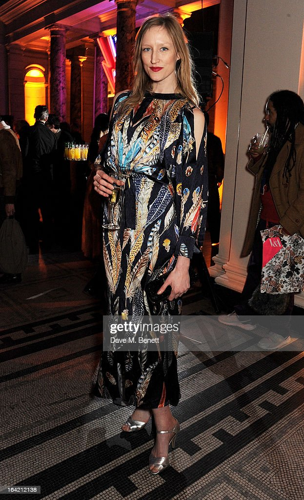 Jade Parfitt attends the private view for the 'David Bowie Is' exhibition in partnership with Gucci and Sennheiser at the Victoria and Albert Museum on March 20, 2013 in London, England.