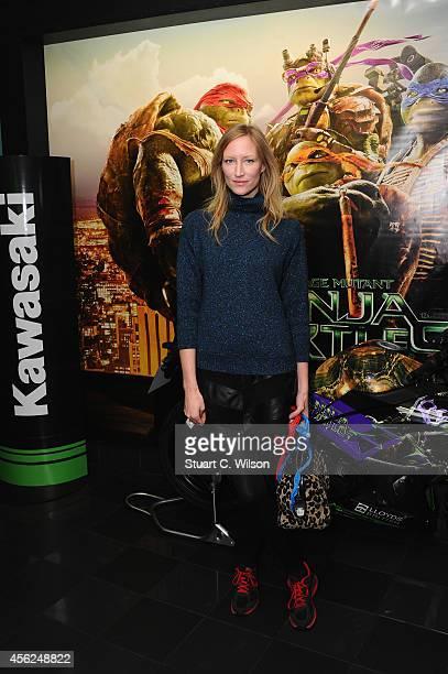 Jade Parfitt attends the UK Gala screening of Teenage Mutant Ninja Turtles at Vue West End on September 28 2014 in London England