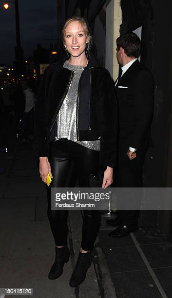 Jade Parfitt attends the Weber X Bailey by Nokia Lumia 1200 private view at Nicholls Clarke Building on September 12 2013 in London England