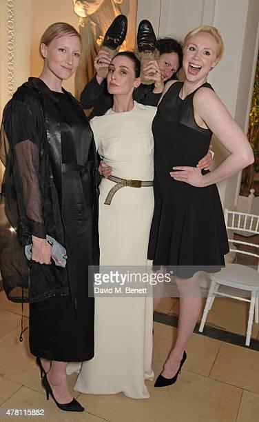 Jade Parfitt Erin O'Connor Katie Grand and Gwendoline Christie attend The Ralph Lauren Vogue Wimbledon Summer Cocktail Party hosted by Alexandra...