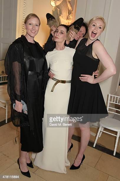 Jade Parfitt Erin O'Connor Katie Grand and Gwendoline Christie attend The Ralph Lauren Vogue Wimbledon Summer Cocktail Party hosted by Alexandra...