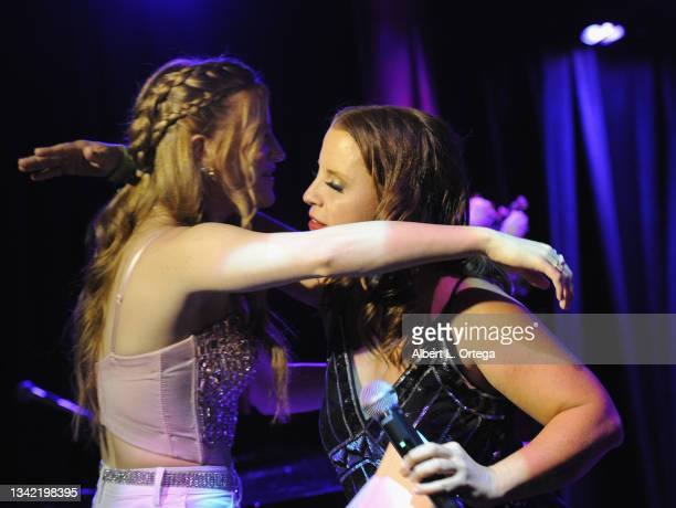 Jade Patteri and Kerri Pomarolli attend the EP Release Party for Jade Patteri held at The Federal NoHo on September 21, 2021 in North Hollywood,...