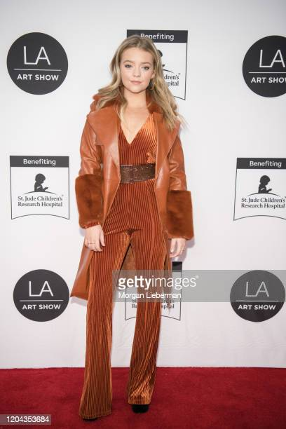 Jade Pettyjohn arrives at the 2020 LA Art Show Opening Night at Los Angeles Convention Center on February 05, 2020 in Los Angeles, California.