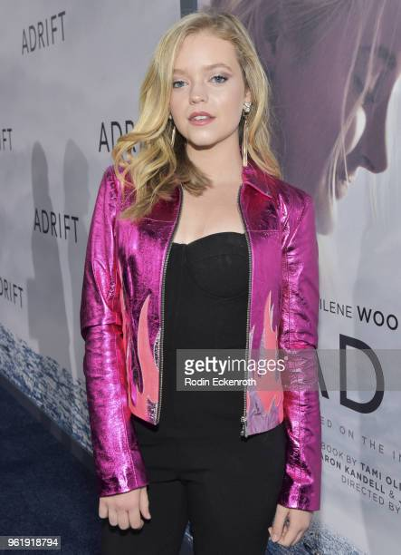 Jade Pettyjohn arrives at the premiere of STX Films' Adrift at Regal LA Live Stadium 14 on May 23 2018 in Los Angeles California