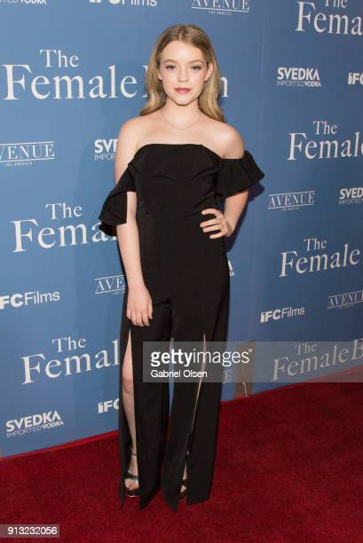 Jade Pettyjohn arrives for the premiere of IFC Films' The Female Brain at ArcLight Hollywood on February 1 2018 in Hollywood California