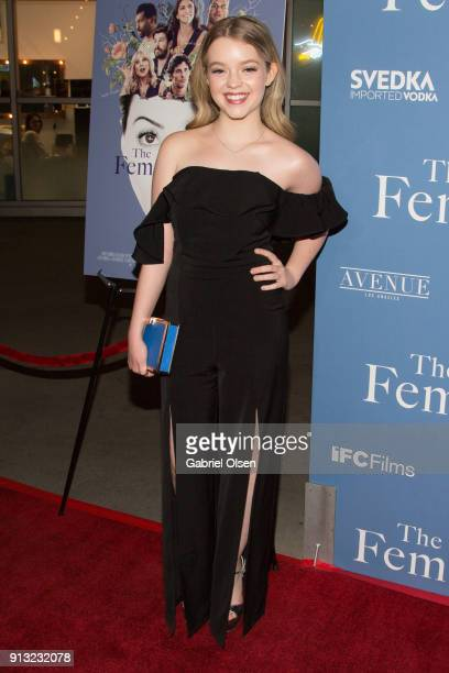 Jade Pettyjohn arrives for the premiere of IFC Films' 'The Female Brain' at ArcLight Hollywood on February 1 2018 in Hollywood California