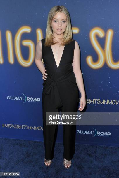 Jade Pettyjohn attends the Global Road Entertainment's World Premiere of 'Midnight Sun' at ArcLight Hollywood on March 15 2018 in Hollywood California