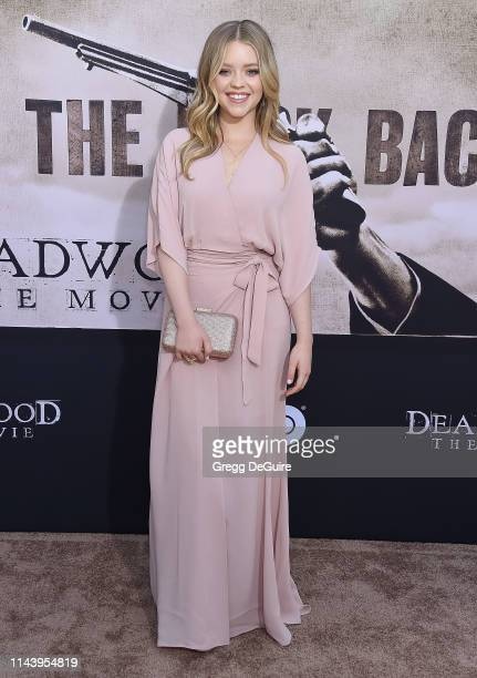Jade Pettyjohn attends the LA Premiere Of HBO's Deadwood at The Cinerama Dome on May 14 2019 in Los Angeles California