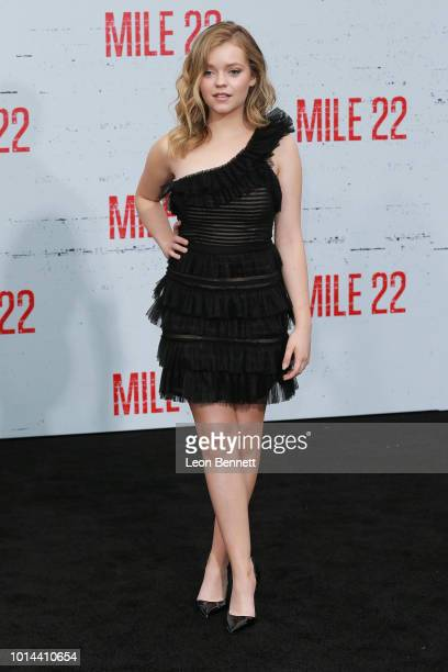 Jade Pettyjohn attends the Premiere Of STX Films' Mile 22 at Westwood Village Theatre on August 9 2018 in Westwood California