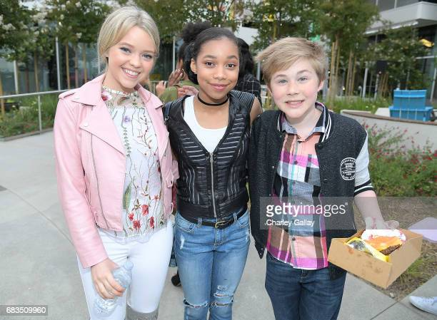 Jade Pettyjohn KylaDrew Simmons and Casey Simpson attend Nickelodeon's Sizzling Summer Camp Special Event on May 15 2017 in Burbank California