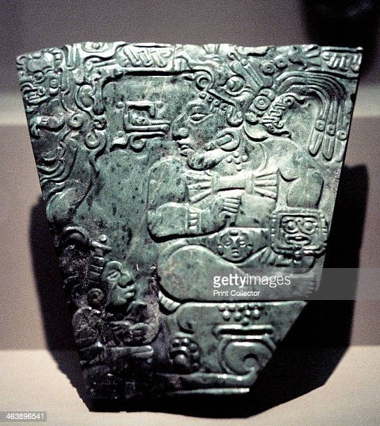Jade plaque showing a seated Mayan king 400800