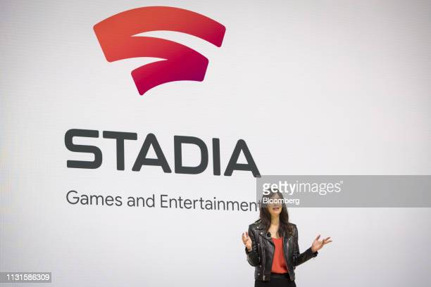 Jade Raymond head of Stadia Games and Entertainment at Google LLC speaks during an event at the Game Developers Conference in San Francisco...