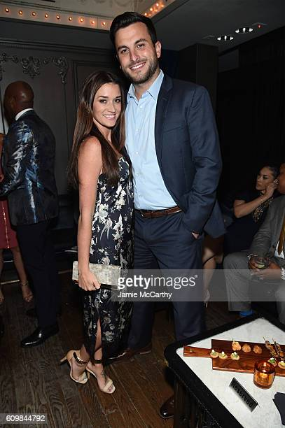 Jade Roper and Tanner Tolbert attend The Season 6 Premiere of Marriage Boot Camp Reality Stars at Up Down on September 22 2016 in New York City