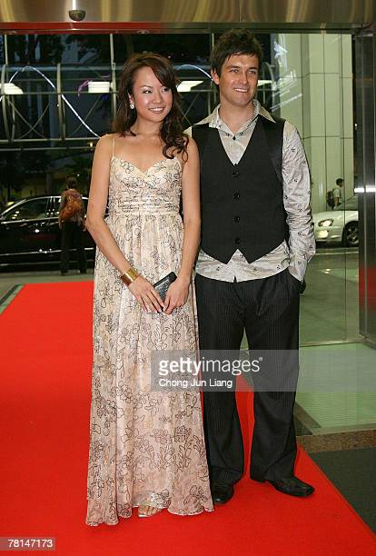 Jade Seah and Antony Starr arrives at the Asian Television Awards 2007 at the Suntec City Convention Centre on November 29 2007 in Singapore The...