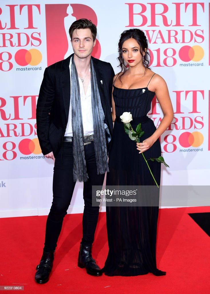 Jade Thirlwall and Jed Elliott attending the Brit Awards at the O2 Arena, London.