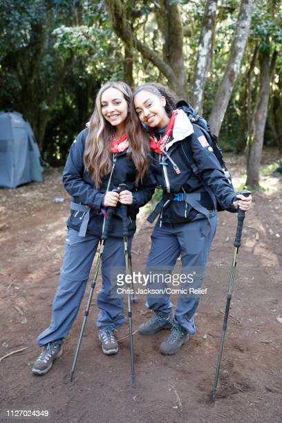 Jade Thirlwall and LeighAnne Pinnock arrive in camp on day 1 of 'Kilimanjaro The Return' for Red Nose Day on February 23 2019 in Arusha Tanzania all...