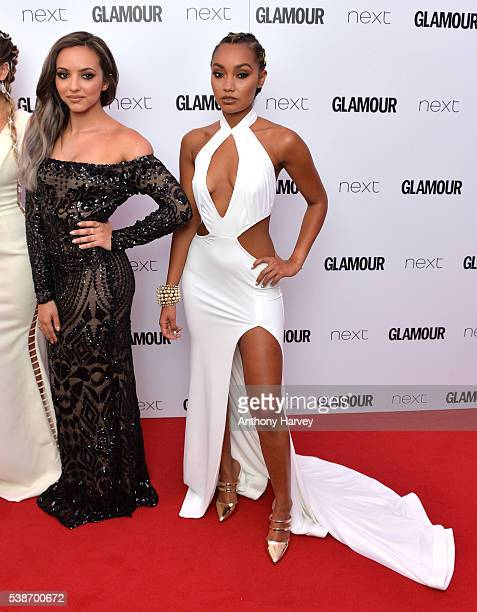 Jade Thirlwall and LeighAnne Pinnock of Little Mix attend the Glamour Women Of The Year Awards at Berkeley Square Gardens on June 7 2016 in London...