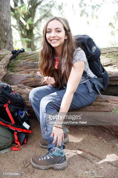 Jade Thirlwall arrives in camp on day 1 of 'Kilimanjaro The Return' for Red Nose Day on February 23 2019 in Arusha Tanzania all to raise funds for...