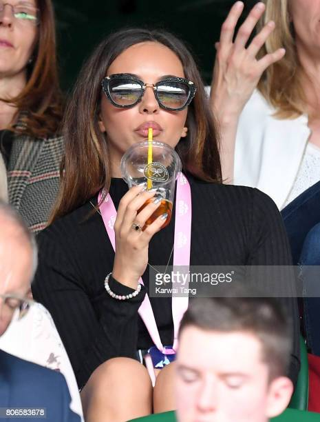 Jade Thirlwall attends day one of the Wimbledon Tennis Championships at the All England Lawn Tennis and Croquet Club on July 3 2017 in London United...