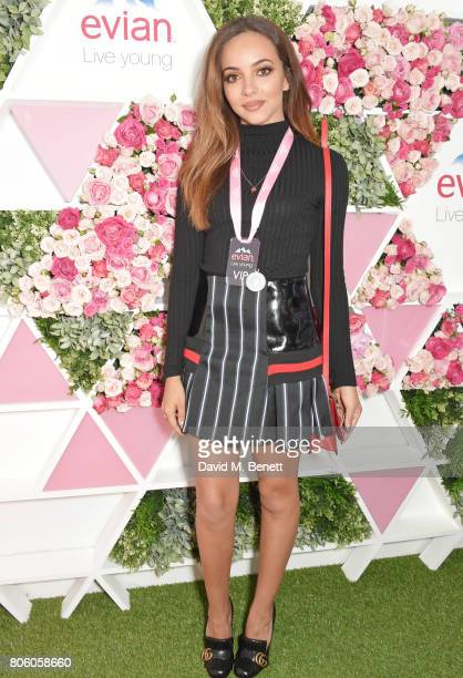 Jade Thirlwall attends the evian Live Young suite during Wimbledon 2017 at the All England Tennis and Croquet Club on July 3, 2017 in London, England.