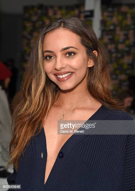 Jade Thirlwall attends the Nicopanda show during London Fashion Week February 2018 at TopShop Show Space on February 19, 2018 in London, England.