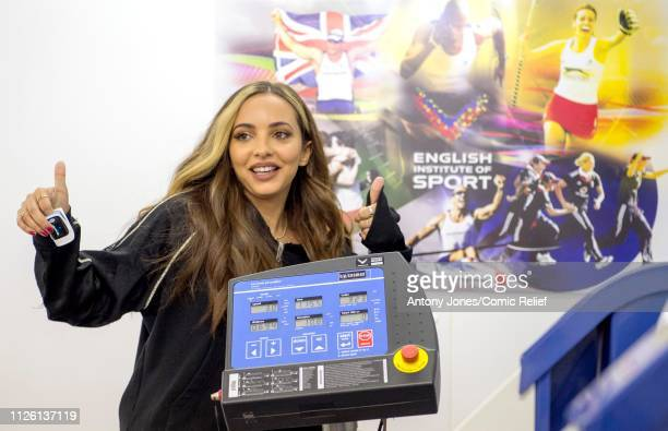 Jade Thirlwall from Little Mix takes part in altitude training ahead of a trek up Mount Kilimanjaro in aid of Comic Relief on January 22 2019 in...