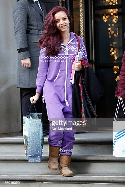 Jade Thirlwall from 'Little Mix', the winners of X-Factor, seen leaving her hotel on December 20, 2011 in London, England.