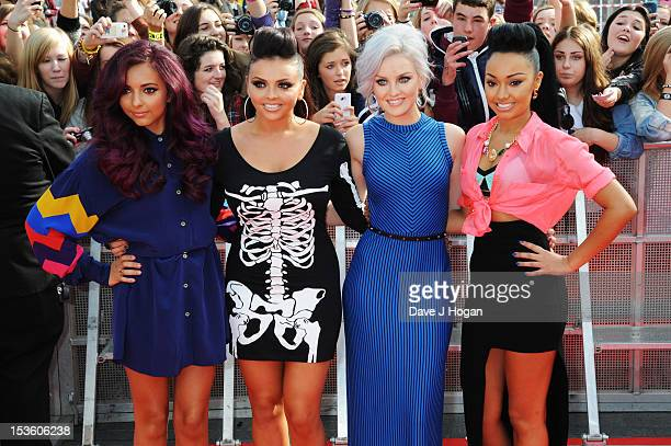 Jade Thirlwall Jesy Nelson Perrie Edwards and Leigh Anne Pinnock of Little Mix attend the BBC Radio 1 Teen Awards 2012 at Wembley Arena on October 7...