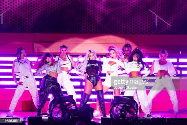 Jade Thirlwall, Jesy Nelson, Perrie Edwards and Leigh-Anne Pinnock of Little Mix perform on stage during day 3 of Fusion Festival 2019 on September...