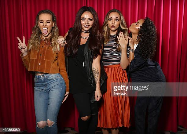 Jade Thirlwall Jesy Nelson Perrie Edwards and LeighAnne Pinnock of British girl group 'Little Mix' pose during a photo shoot in Sydney New South Wales