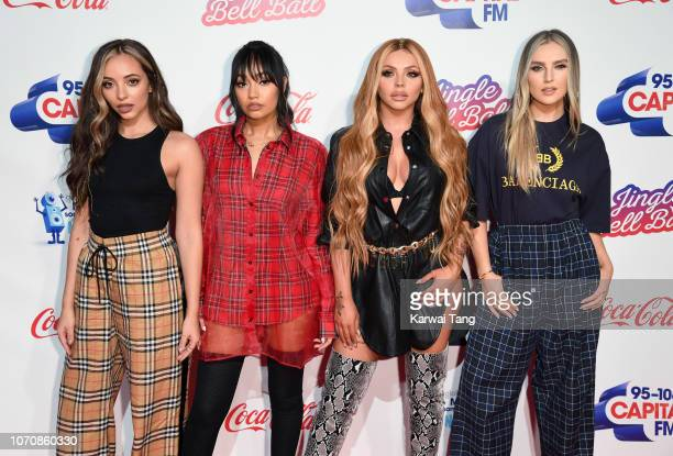 Jade Thirlwall, Leigh-Anne Pinnock, Jesy Nelson and Perrie Edwards of Little Mix attend the Capital FM Jingle Bell Ball at The O2 Arena on December...