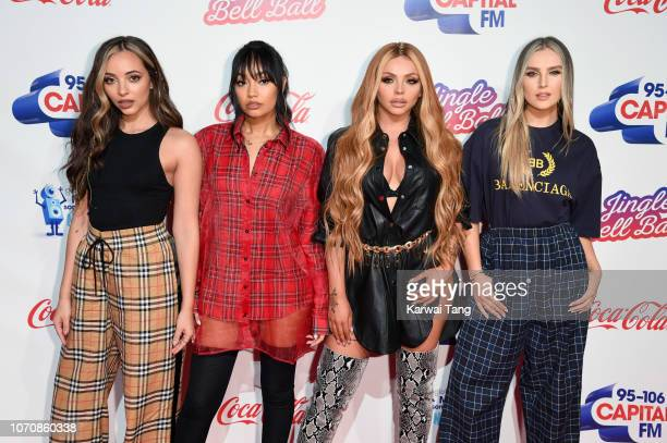 Jade Thirlwall LeighAnne Pinnock Jesy Nelson and Perrie Edwards of Little Mix attend the Capital FM Jingle Bell Ball at The O2 Arena on December 9...