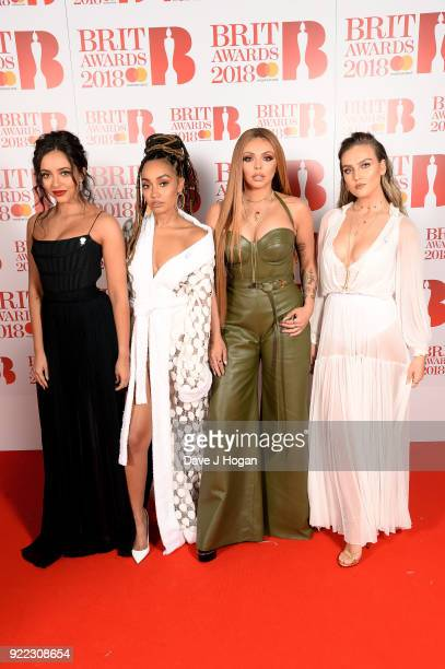 AWARDS 2018 *** Jade Thirlwall LeighAnne Pinnock Jesy Nelson and Perrie Edwards of Little Mix attend The BRIT Awards 2018 held at The O2 Arena on...