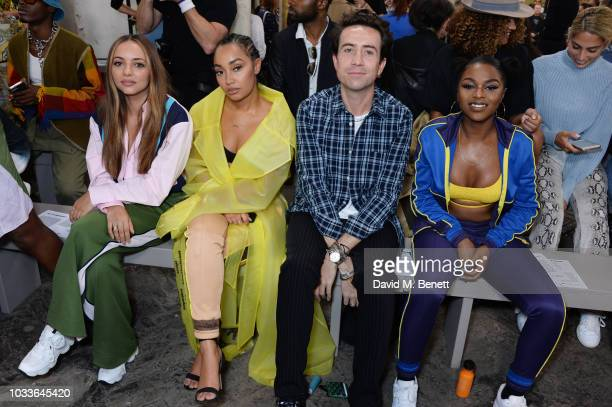 Jade Thirlwall LeighAnne Pinnock Nick Grimshaw and Nadia Rose attend the House Of Holland front row during London Fashion Week September 2018 at the...