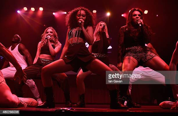 Jade Thirlwall LeighAnne Pinnock Perrie Edwards and Jesy Nelson from Little Mix perform for KISS FM at The KISS Secret Sessions gig on July 10 2015...