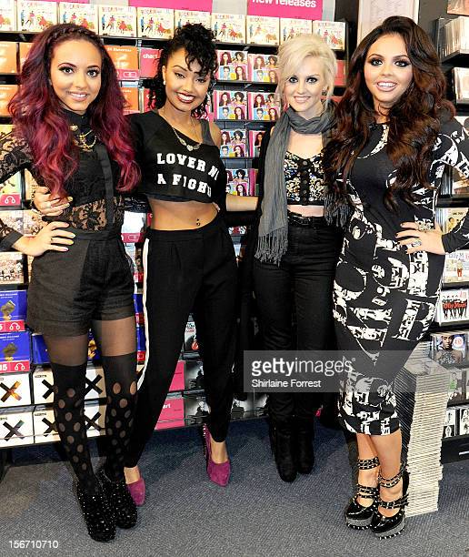 Jade Thirlwall LeighAnne Pinnock Perrie Edwards and Jesy Nelson of Little Mix meet fans and sign copies of their album 'DNA' on November 19 2012 in...