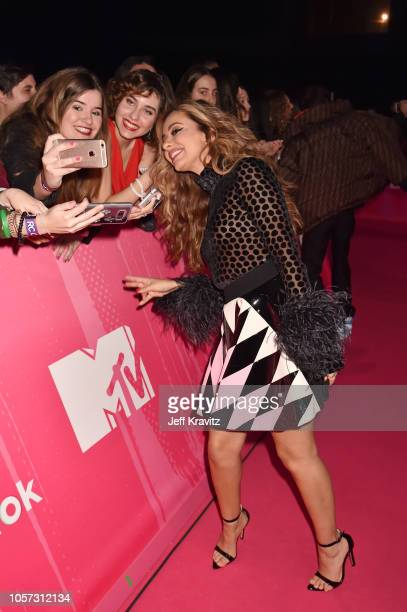Jade Thirlwall of Little Mix attends the MTV EMAs 2018 at Bilbao Exhibition Centre on November 4 2018 in Bilbao Spain