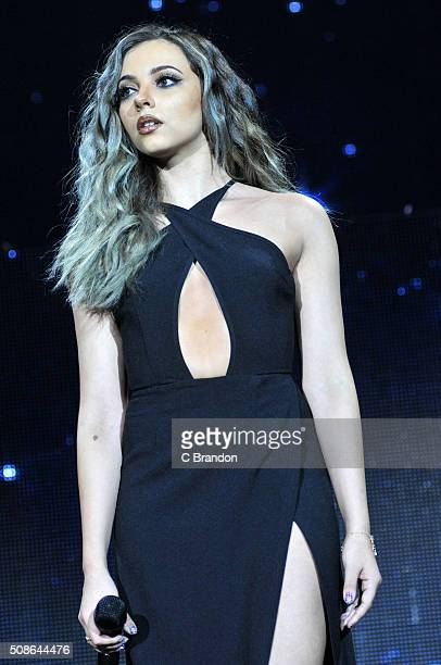 Jade Thirlwall of Little Mix performs on stage at The O2 Arena on February 5 2016 in London England